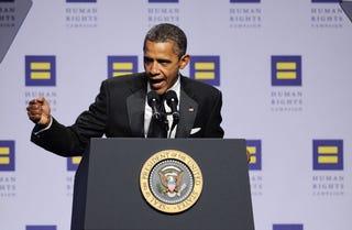 President Obama blasts GOP on gay troops. (Getty)