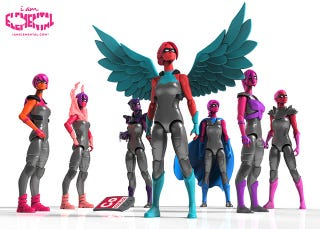 Illustration for article titled Check Out These Badass Lady Action Figures Made By Moms