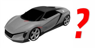 Illustration for article titled Mysterious Mid-Engined Honda Sports Car Revealed In Patent Drawings
