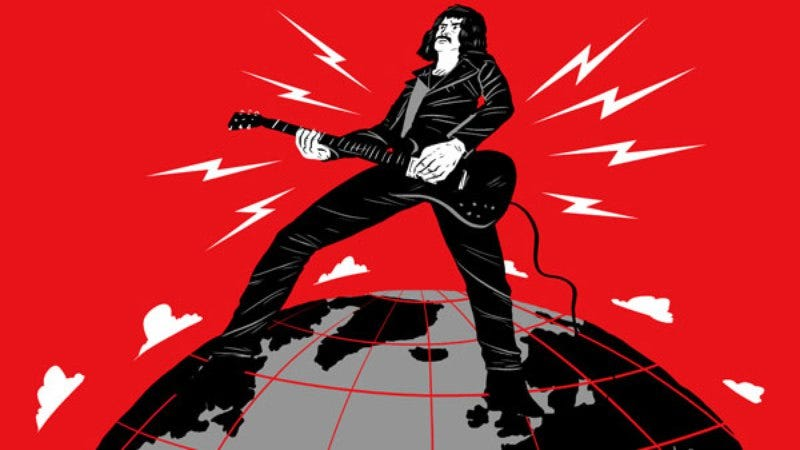 Illustration for article titled A cartoon Tony Iommi loses his fingers