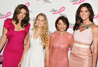 Illustration for article titled Breast Cancer Foundation's Hot Pink Party: Aren't They Pretty In Pink? (Aren't They?!)