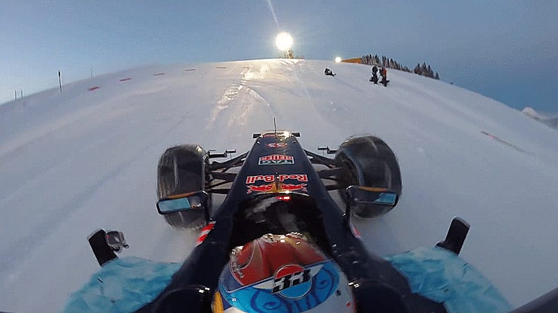 The Winter Olympics Could Use Some Downhill F1 Car Snow Runs