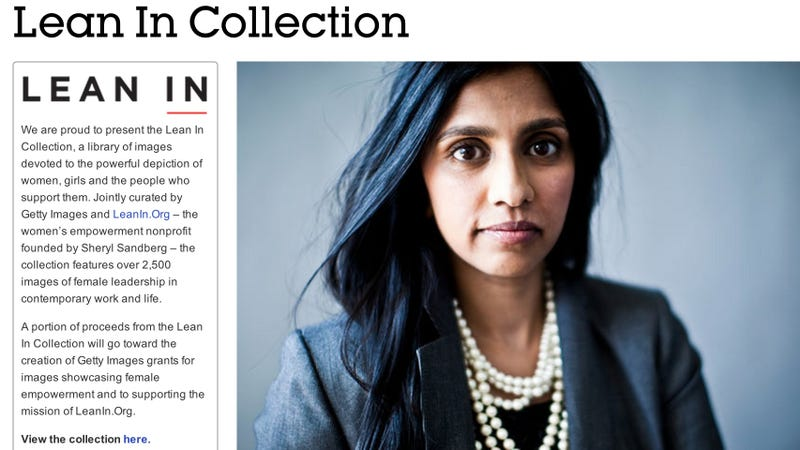 Illustration for article titled Lean In's Businesslady Stock Image Collection Is a Success
