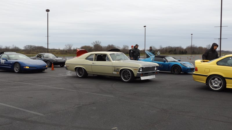 Illustration for article titled So these were at autocross today