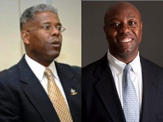 Representatives-elect Allen West and Tim Scott