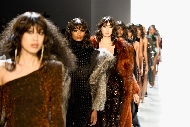 Models walk the runway for Laquan Smith during New York Fashion Week on Feb. 14, 2018. (Frazer Harrison/Getty Images for New York Fashion Week: The Shows )