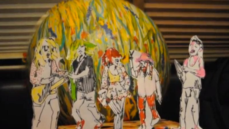 Illustration for article titled Grouplove made a cute little puppet video to inform you about a livestream next week