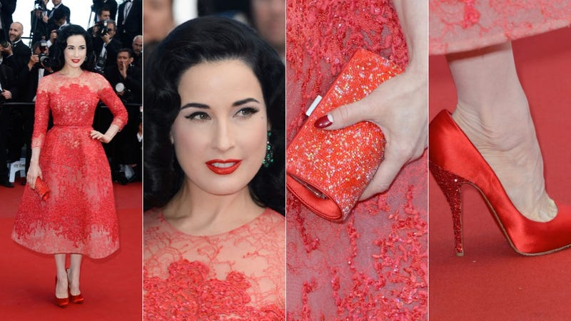 Illustration for article titled Dita Von Teese: Ridiculously Ravishing in Red