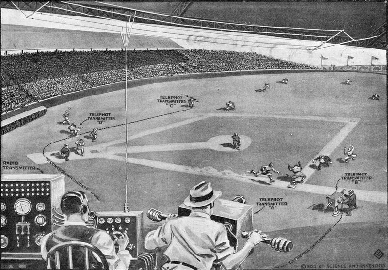 Illustration for article titled When Watching Baseball on TV Was the Future