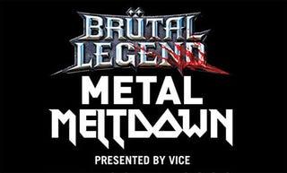 Illustration for article titled Score Brutal Legend Metal Meltdown VIP Passes