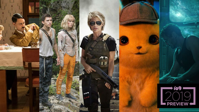 JoJo Rabbit, Chaos Walking, Terminator 6, Detective Pikachu, and Avengers: Endgame are just five of the 80 movies previewed below.