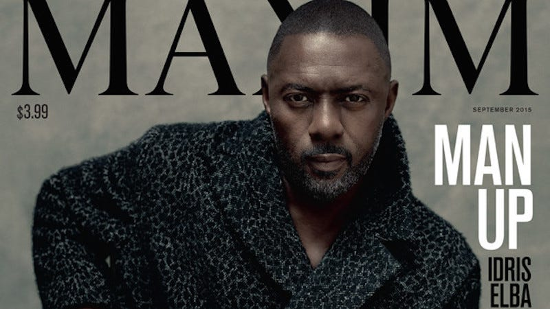 Illustration for article titled Your Boyfriend Idris Elba Is the First Man to Cover Maxim