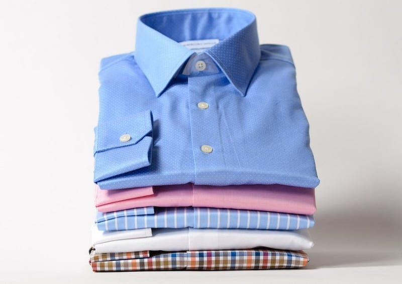 Newbury Mills Shirts, 1 for $59 with code KINJA025, 3+ for $47 each with code KINJA040
