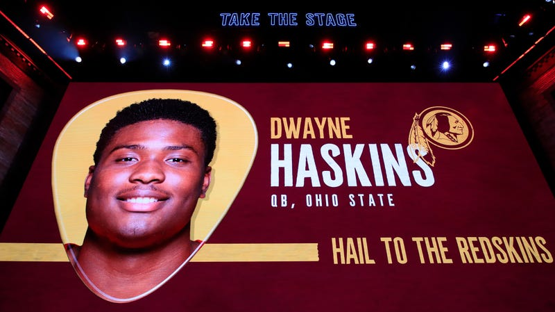 Illustration for article titled Sports Radio Caller Is Absolutely Furious That Dwayne Haskins Is Tarnishing Joe Theismann's Number