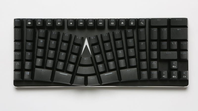 Illustration for article titled This Weird Warped Keyboard Actually Makes A Lot Of Sense