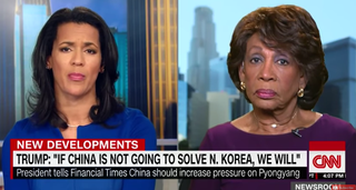 CNN anchor Fredricka Whitfield and Rep. Maxine Waters (screenshot via CNN)