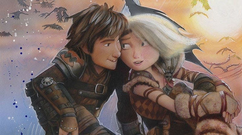 How to Train Your Dragon: The Hidden World, imagined in part by Drew Struzan.