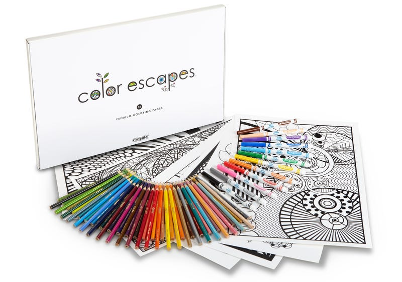 crayola now has its own line of coloring books for adults