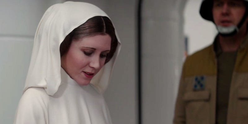 It may look like Carrie Fisher but, under the digital effects, that's Ingvild Deila. Image: Lucasfilm