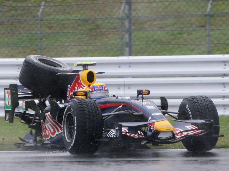 """Illustration for article titled Mark Webber Called Sebastian Vettel A """"Kid Who Fucks It All Up"""""""
