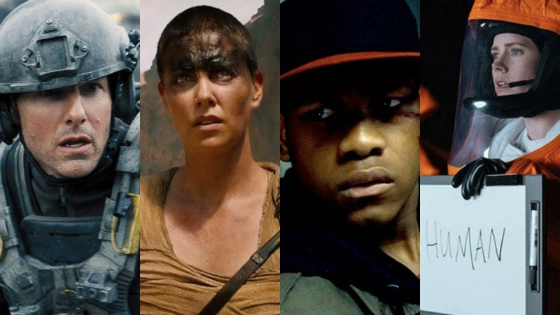 Our #1 seeds: Edge of Tomorrow, Mad Max: Fury Road, Attack the Block, and Arrival.