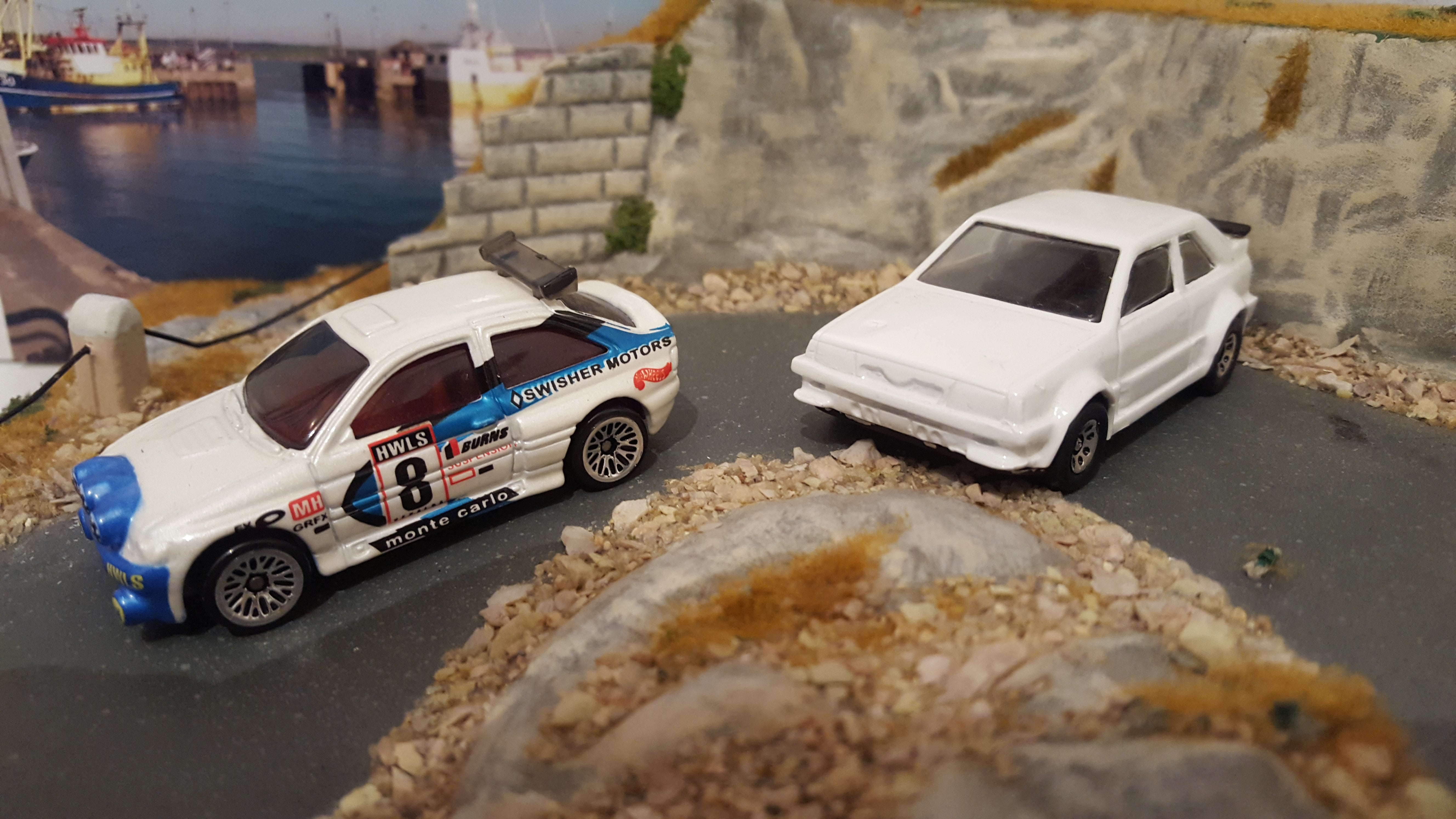 The Hot wheels Ford Escort F2 kit car and very rare pre production of the never released Ford Escort RS1700T . & My 1st post  so I thought I would show two of my favourite cars markmcfarlin.com