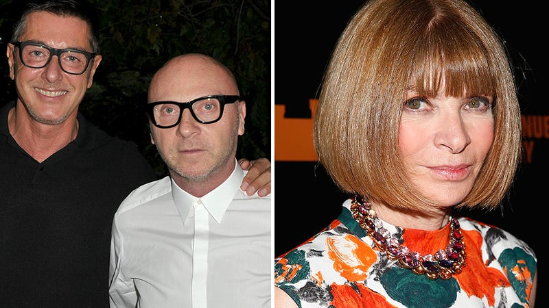 Illustration for article titled Dolce & Gabbana Ask Anna Wintour to Squash Tax Fraud Exposé