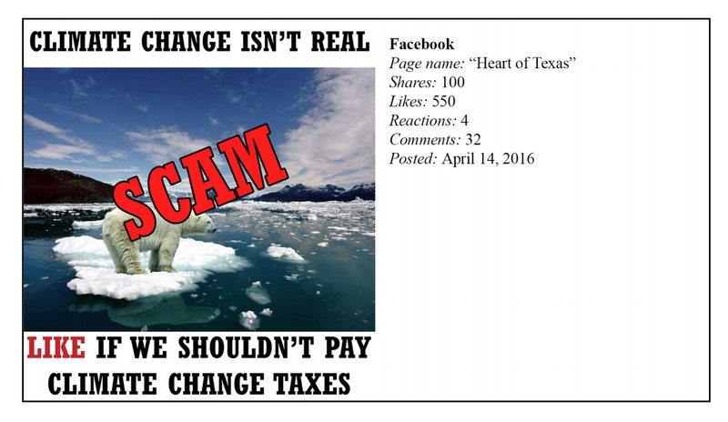 Illustration for article titled Russia Used a Bunch of Angry Memes to Inflame the U.S. Climate Change Debate
