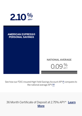 Illustration for article titled American Express Bumped Their Savings Accounts Up to 2.10% APY