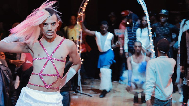 Christopher Waldorf at a Kiki Ball in a scene from KIKI, a Sundance Selects release. Photo courtesy of IFC Films.