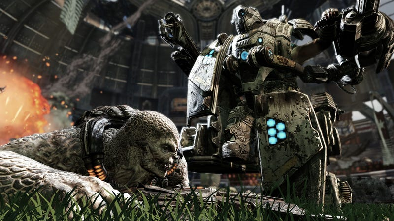 Illustration for article titled New Gears Of War 3 Screenshots Show Mechs Are Good With Their Feet