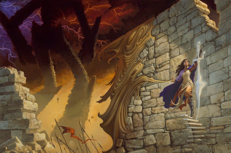 Oathbringer cover art by Michael Whelan.