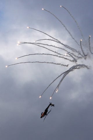 Illustration for article titled Does Your Attack Helicopter Have This Much Flare?