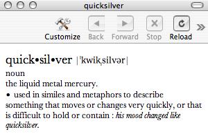 dictionary set up