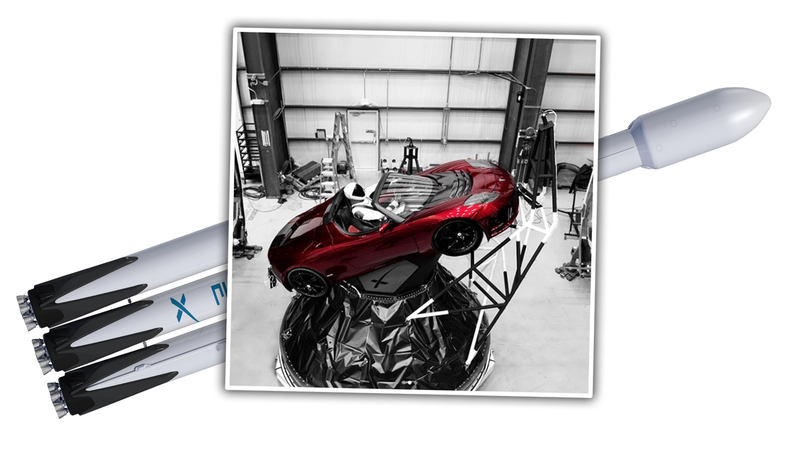 Illustration for article titled It Looks Like Elon Musk Is Going To Launch His Tesla Roadster Into Space After All And Now It Has A Passenger