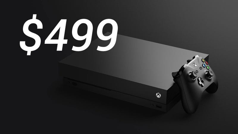 Illustration for article titled Microsoft Announces Xbox One X, Will Be $499