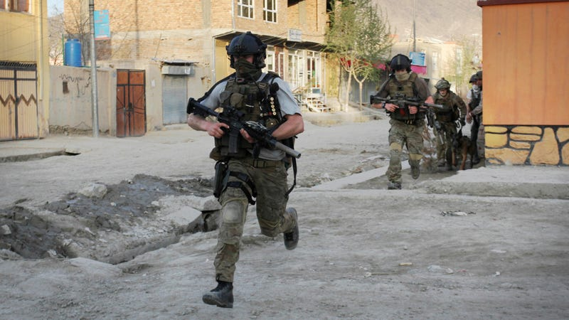 NATO troops in Kabul, Afghanistan, a focus of the leaked data archives, in 2012. Photo: AP
