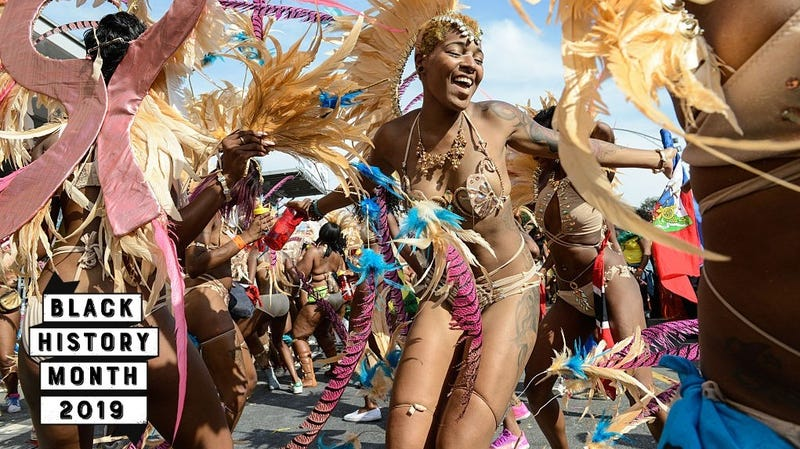Celebrants participate in the annual West Indian Day Parade on September 5, 2016 in the Brooklyn borough of New York City. More than a million people were expected to line the streets for the Labor Day ritual.