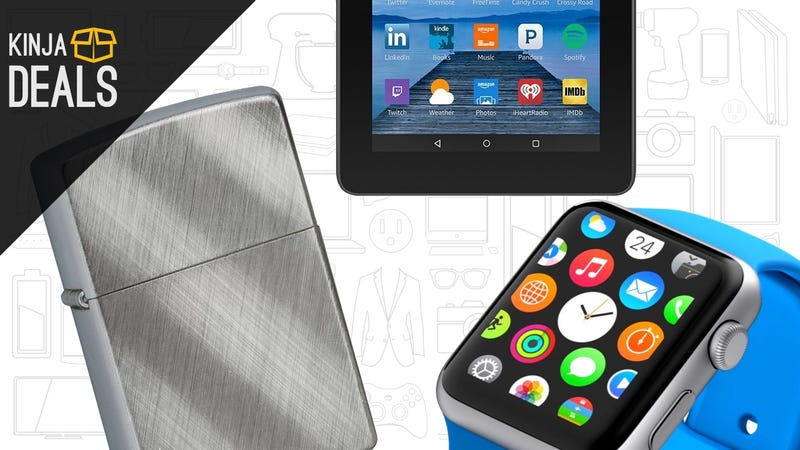 Illustration for article titled Sunday's Best Deals: Huge Zippo Sale, $40 Fire Tablet, and More