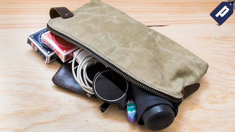 Illustration for article titled This Waterproof, Canvas Utility Bag Keeps Your Gear Organized for $19.50