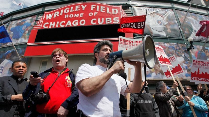 Illustration for article titled Wrigley Field Supporters Propose Tearing Down Rest Of Chicago