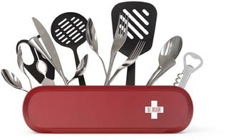 Illustration for article titled Swissarmius: Organize Your Kitchen Utensils Swiss Army Style