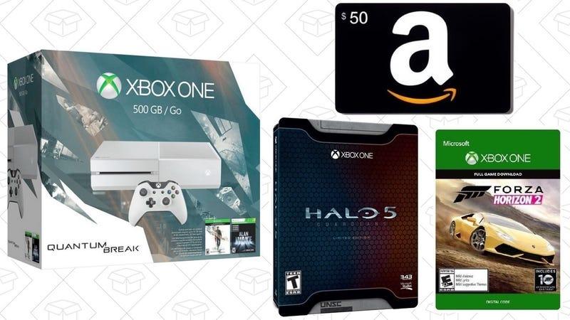 Xbox One Bundles + $50 Amazon card, Halo 5 LE, Forza Horizon 2