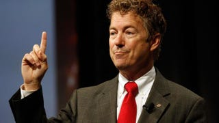 Sen. Rand Paul speaks at the Defending the American Dream Summit sponsored by Americans for Prospertity at the Omni Hotel in Dallas on Aug. 29, 2014.Mike Stone/Getty Images