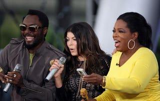 Will.i.am gets down with Oprah Winfrey.