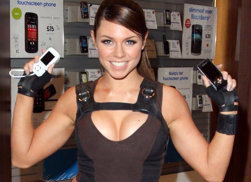 Illustration for article titled Lara Croft Model, Cell Phone Model