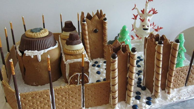Illustration for article titled This Game Of Thrones Gingerbread House Is Oddly Appropriate