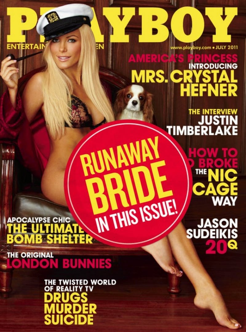 """Illustration for article titled """"Mrs. Crystal Hefner"""" Playboy Cover Receives Some Last-Minute Alterations"""