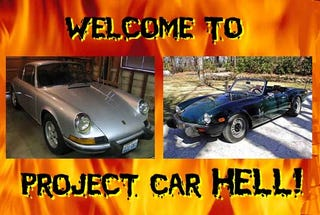 Illustration for article titled Project Car Hell, Arc-Weld Your Soul Edition: Electric 911 or Electric Spitfire?