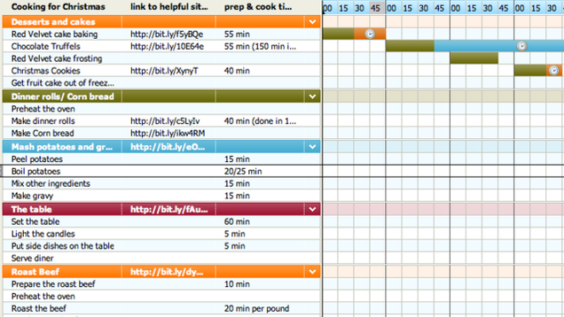 Tom S Planner Dinner Chart Plans Out Your Day For Holiday